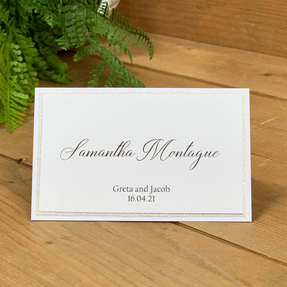 Wedding Place name with pink and blush flowers