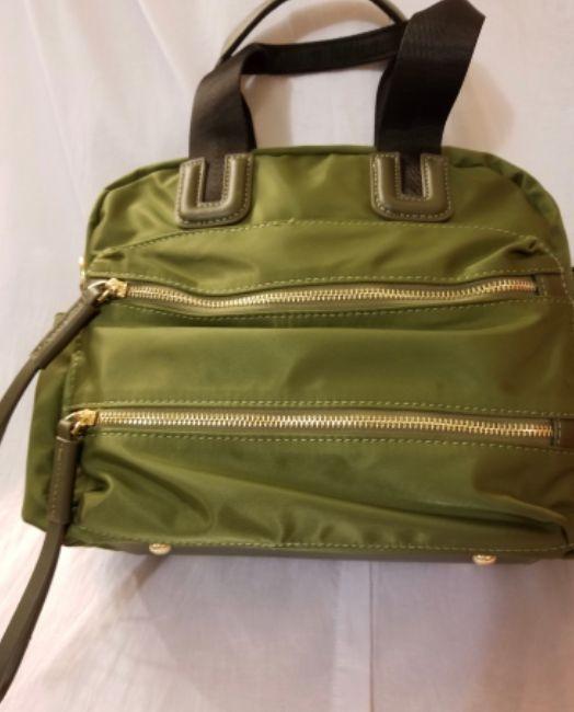 Green Microfiber Handbag