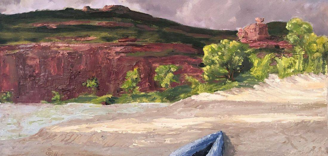 Art, Fine Art, Sandy Bray White, Green River Utah, Rafting, Camping, Nefertiti, Queen Nefertiti, River, Raft, summer