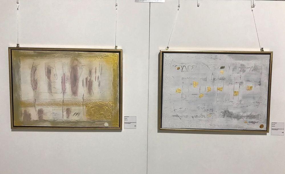Kunst verkaufen, Kunst, Silvia Wagner Art, Kunstausstellung, Ausstellung, Stein am Rhein SH, Schweiz, Blattgold, Marmormehl