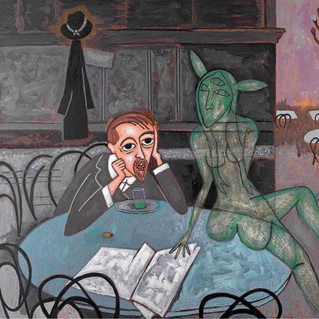Absinthe Drinker, Viktor Oliva, Michael Andryc, Pop Culture, Pop Art, Contemporary