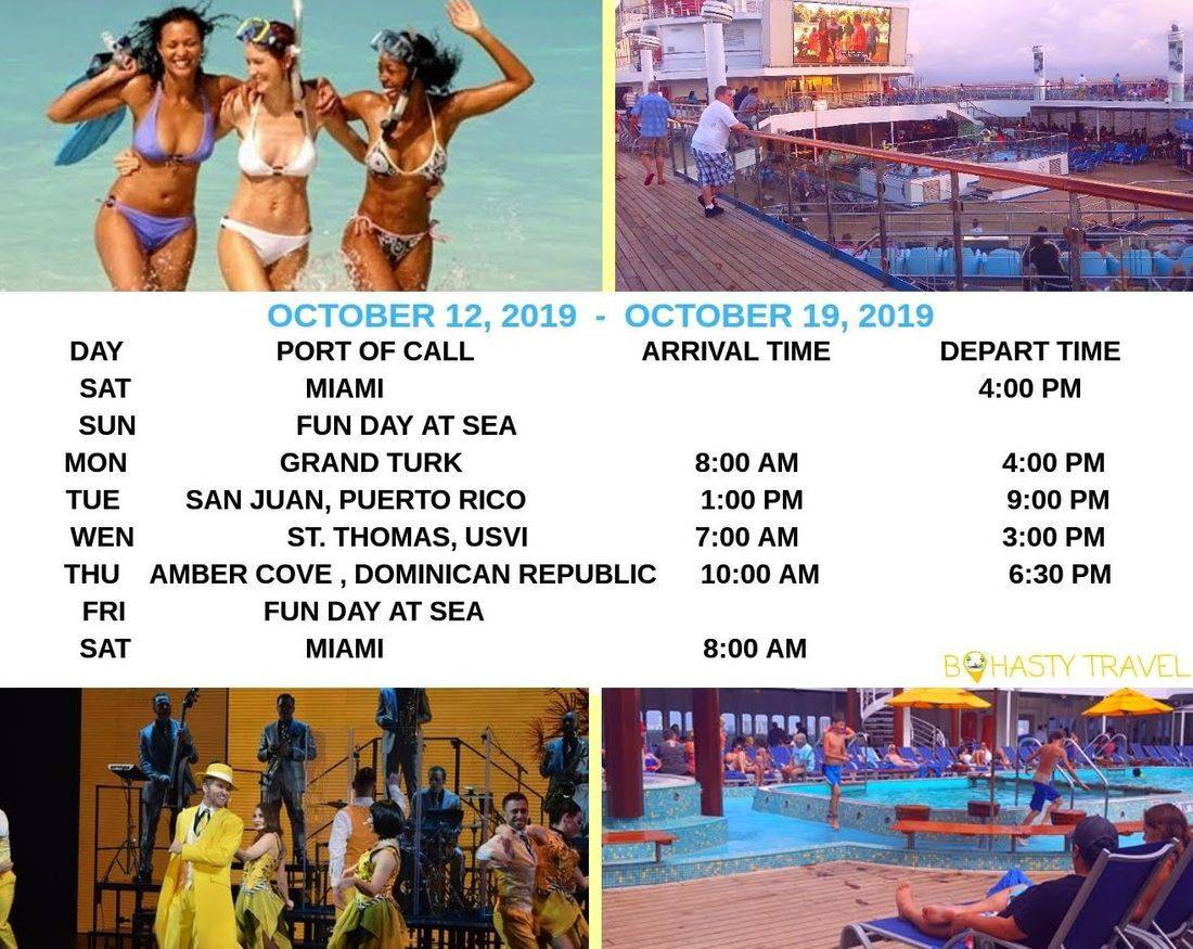 MIAMI 7 DAY CRUISE DOMINICAN REPUBLIC