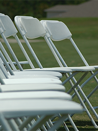Basic White Folding Chair Rental www.rentals801.com