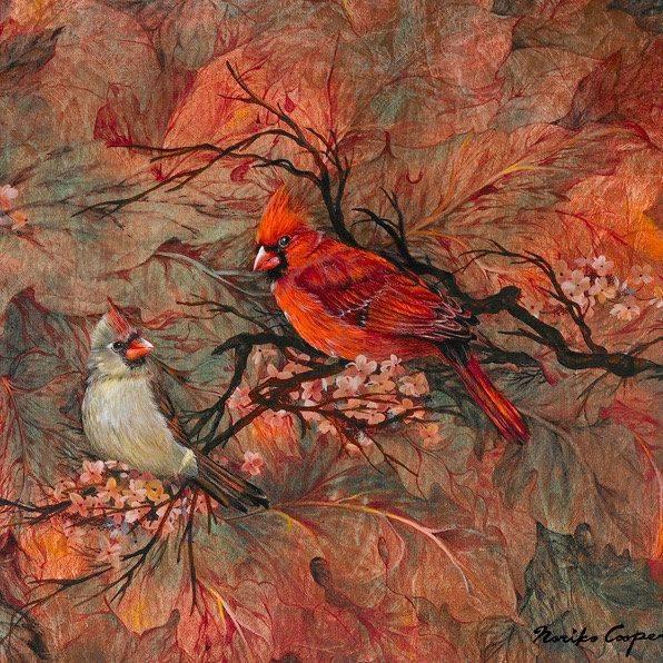 NCooper - Cardinal Family - Giclee - 11x14 - $119