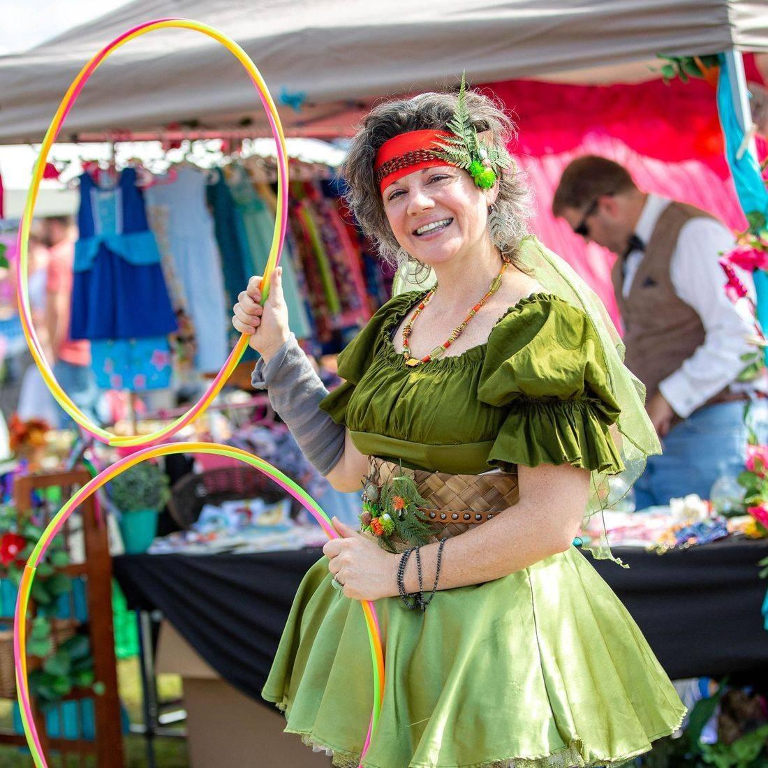 hula hoop, fairy costume