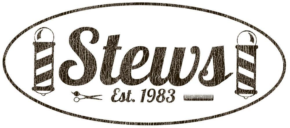 Stews Barbershop logo