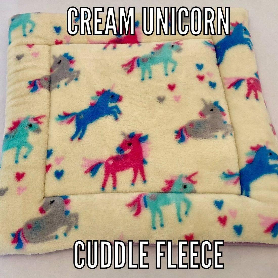 cream unicorn fabric