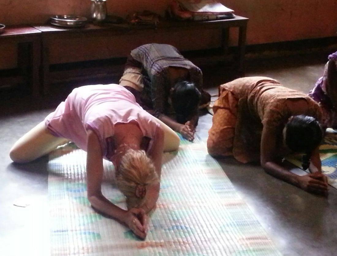 Rebecca Bachar working teaching Yoga India orphans