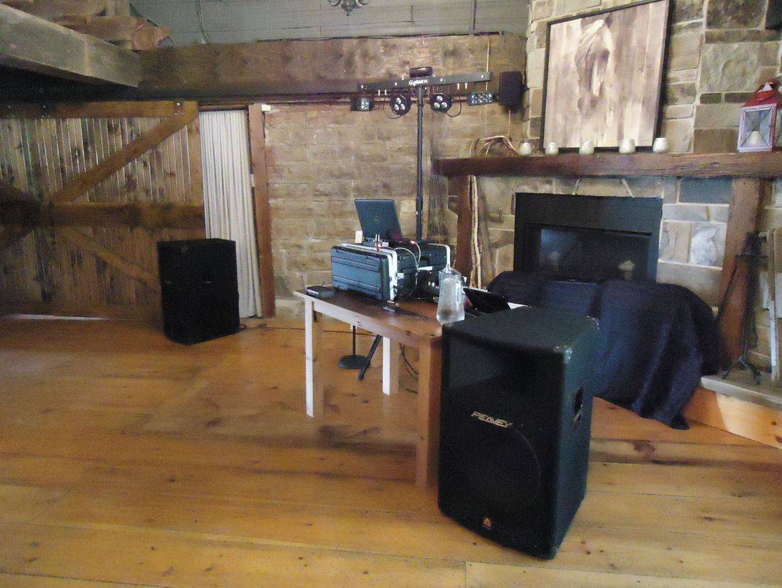 Barn DJ setup