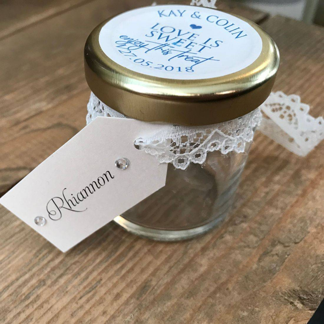 Name Tags for Jam Jar Favours