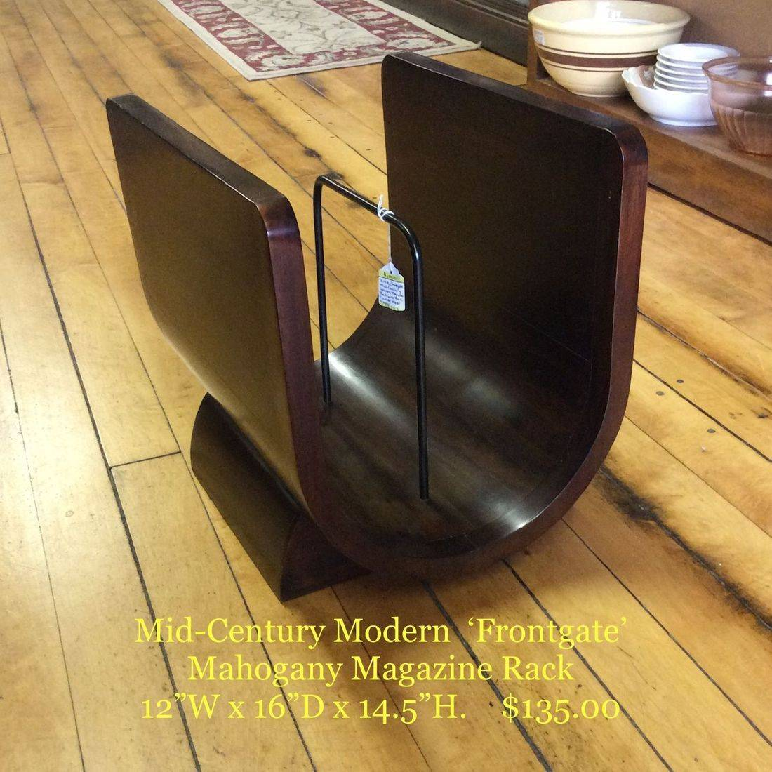 Mid-Century Modern 'Frontgate' Mahogany Magazine Rack   $135.00