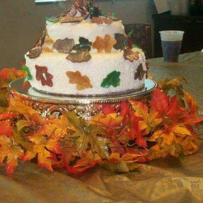 Fall bridal shower cake
