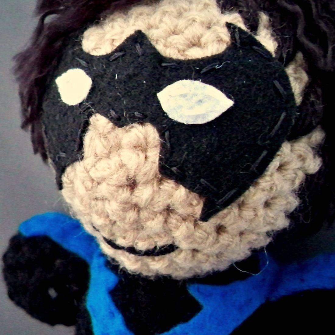 Nightwing, Batman, JLA, JLU, Teen Titans, amigurumi, plush, doll, crochet, handmade, geek, nerd, comicbook, superhero