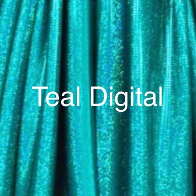 teal hologram spandex