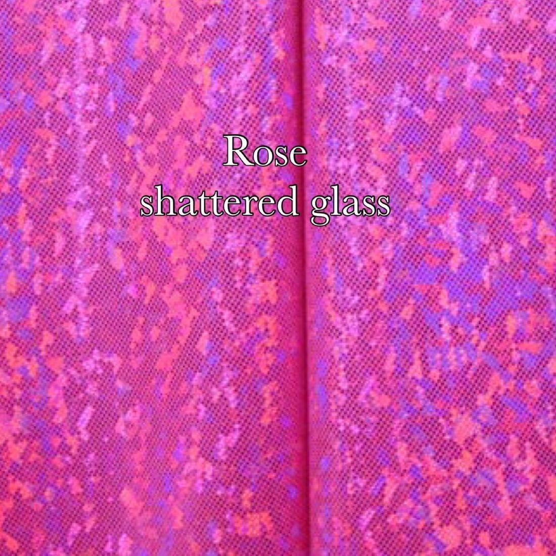 Rose shatter glass