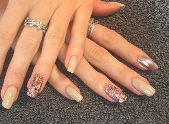 Nails by student after attending my Gel Nail Extensions Course