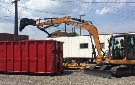 Case CX 80 Excavator Thumb Install