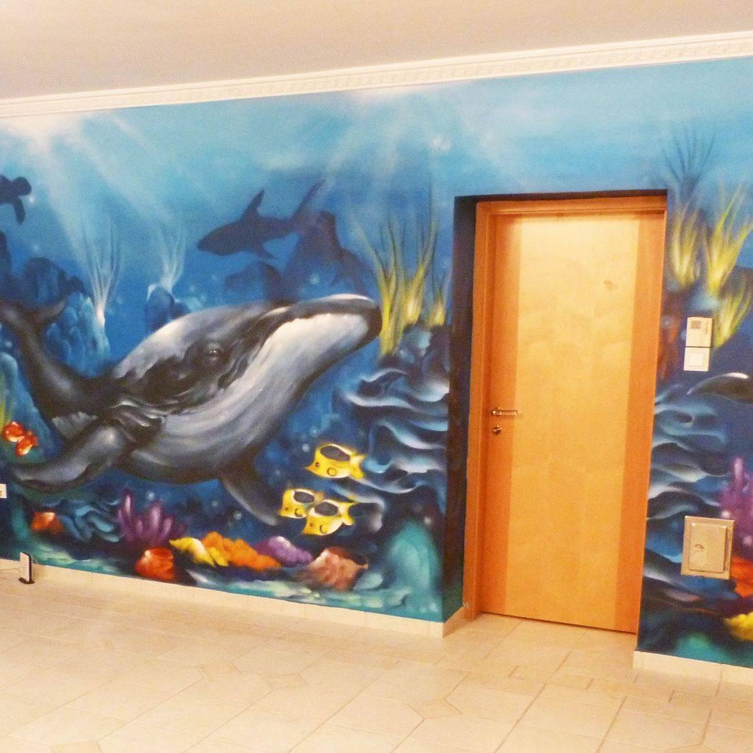 Dekorációs falfestés falfestmény graffiti festés