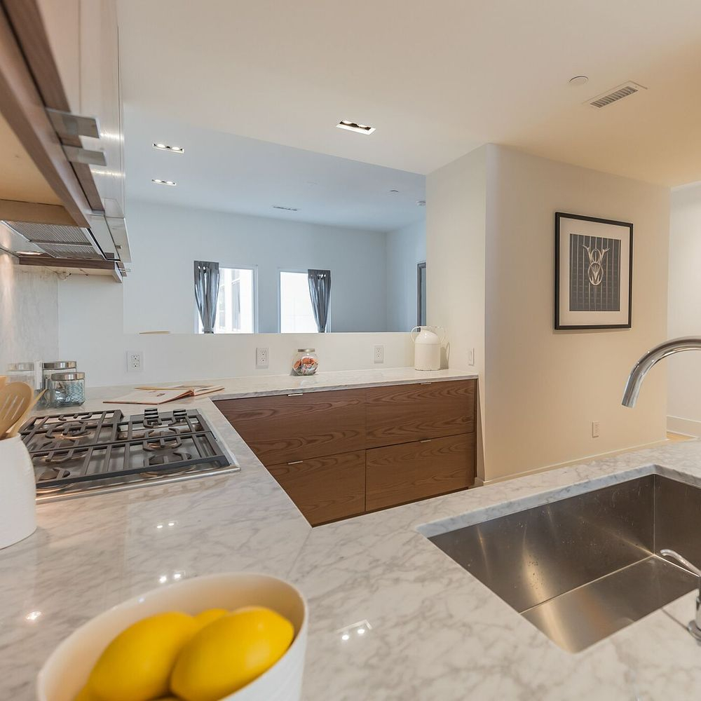 Fully Renovated Modern Kitchen Space with Free Range Stove