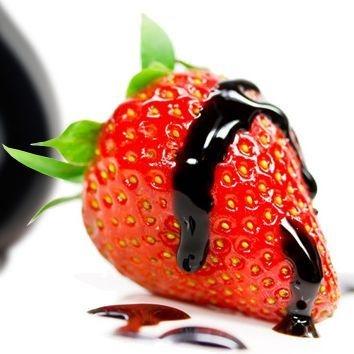 Strawberries with balsamic vinegar, balsamic vinegar from Modena