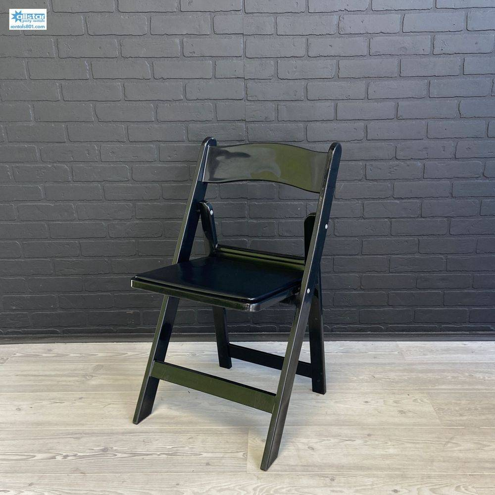 Black Padded Chair www.rentals801.com/chairs
