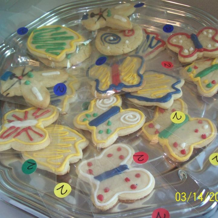 Sugar cookies with chocolate decor