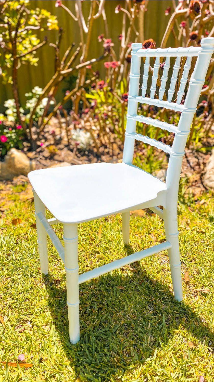 Kids White Tiffany Chairs for Hire