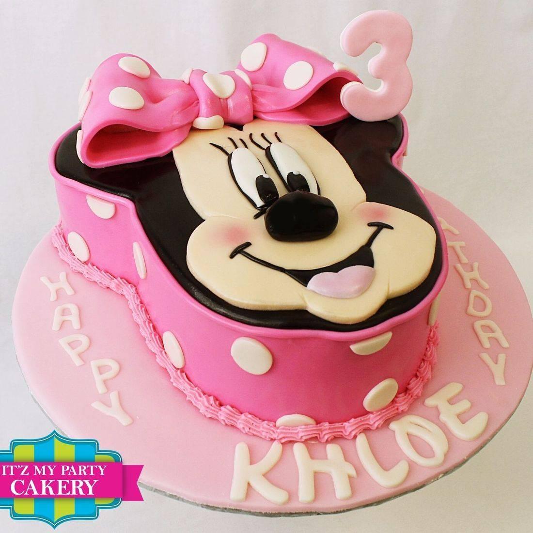 Minnie Mouse Head Cake Dimensional Cake Milwaukee