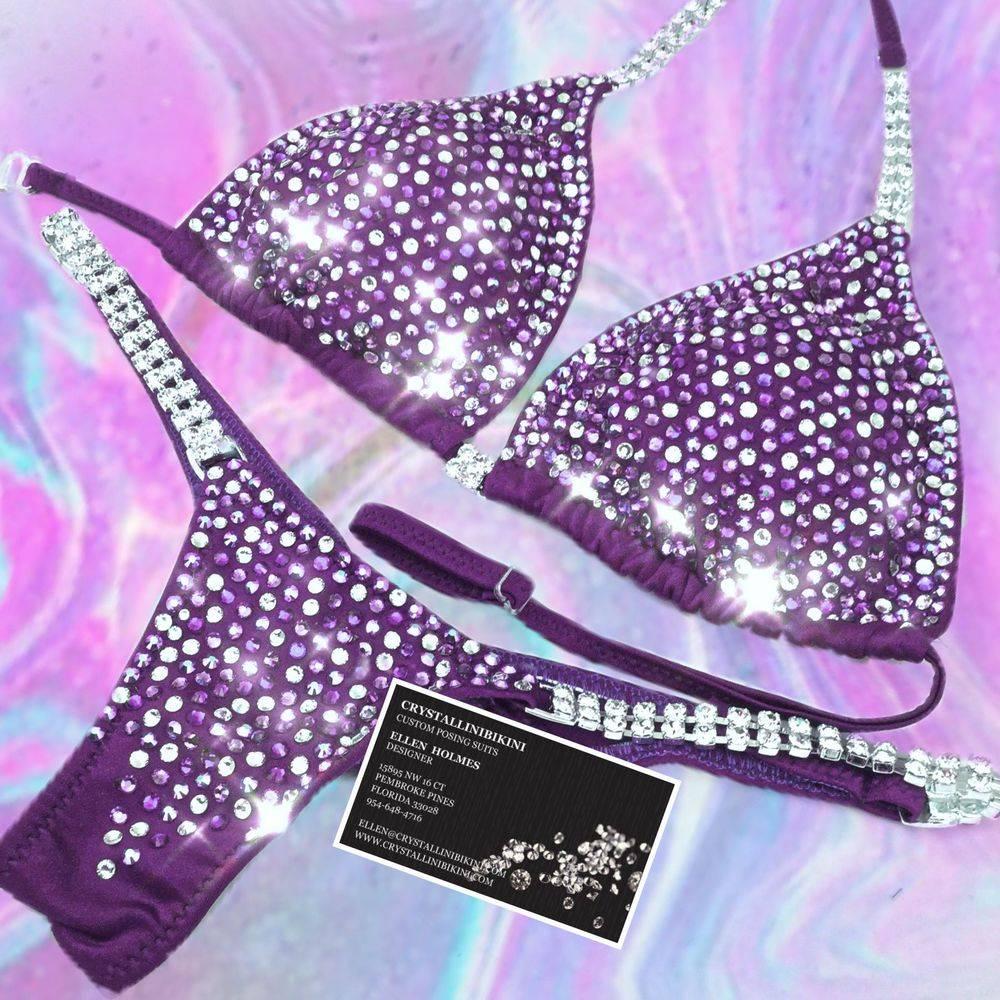 plum competition bikini