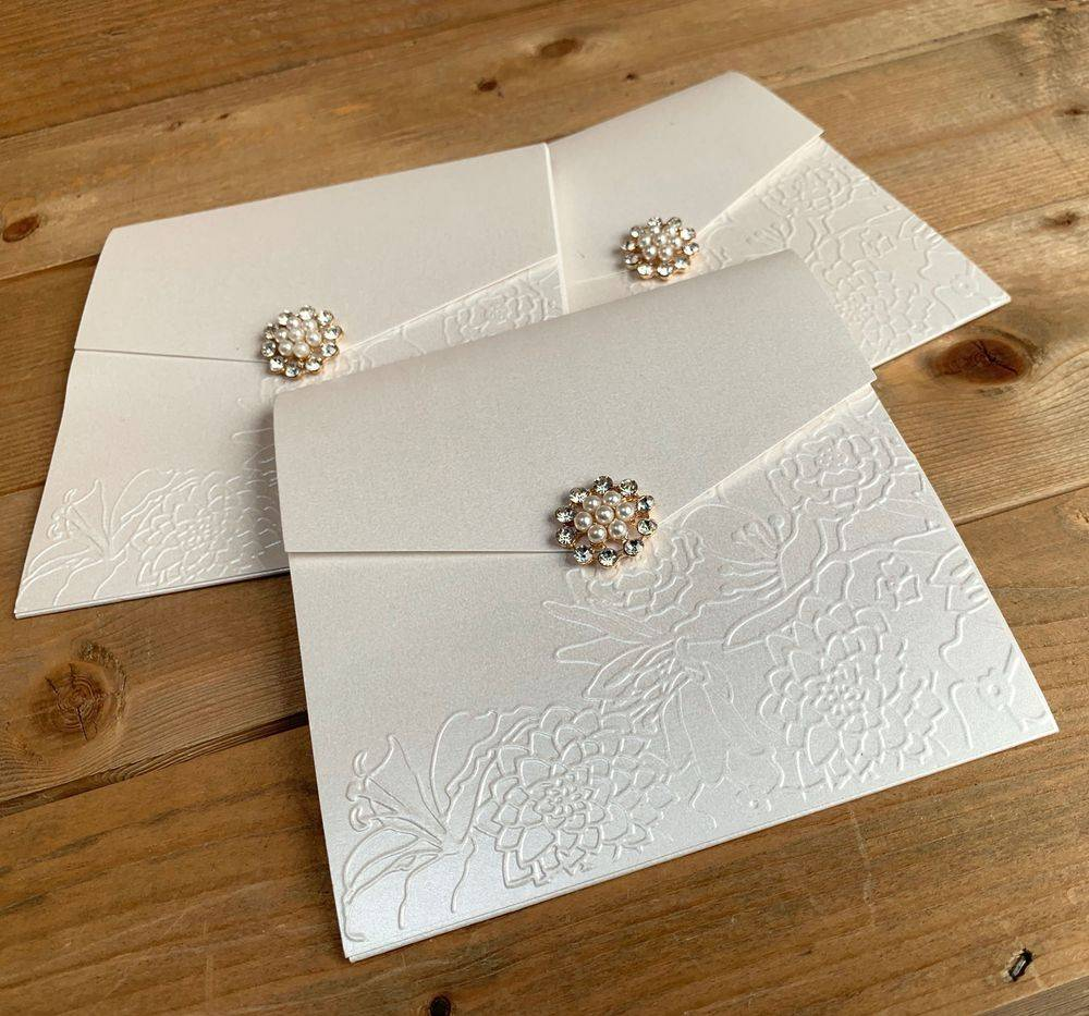 Embossed Wedding Invitations with magnetic fastening