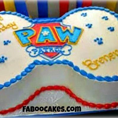 birthday cake paw patrol bone cake paw patrol cake