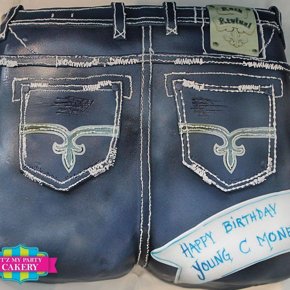 True Religion Jeans Carved Dimensional Cake Milwaukee