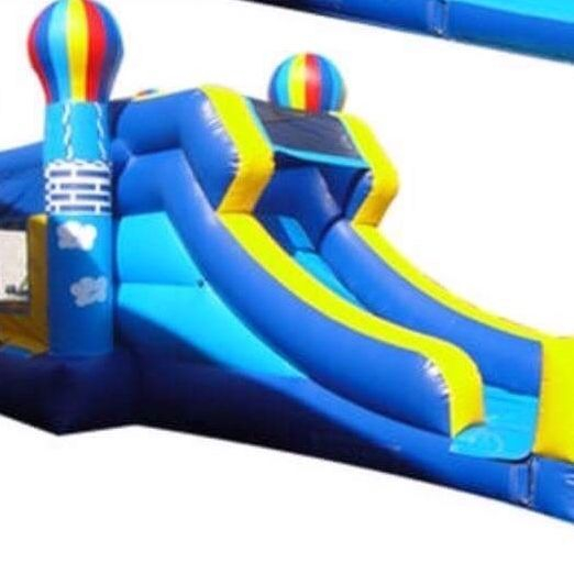 balloon bounce house dry slide combo
