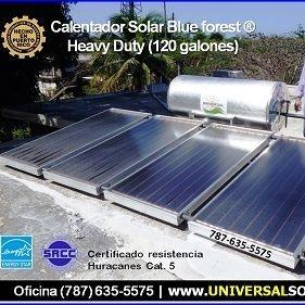 calentadores solares universal en Puerto Rico
