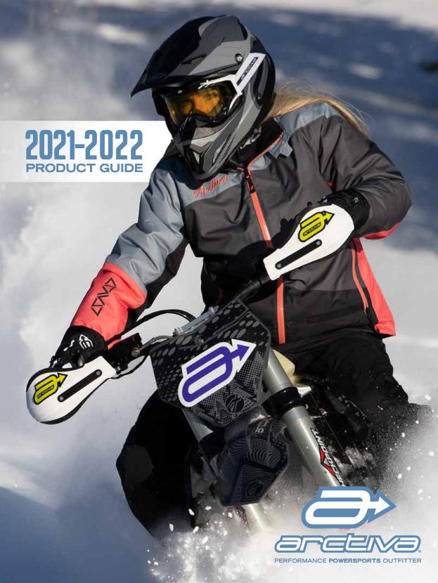 Girl on snocross bike in powder snow
