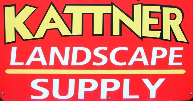 The sign by the office door at Kattne Landscape Supply