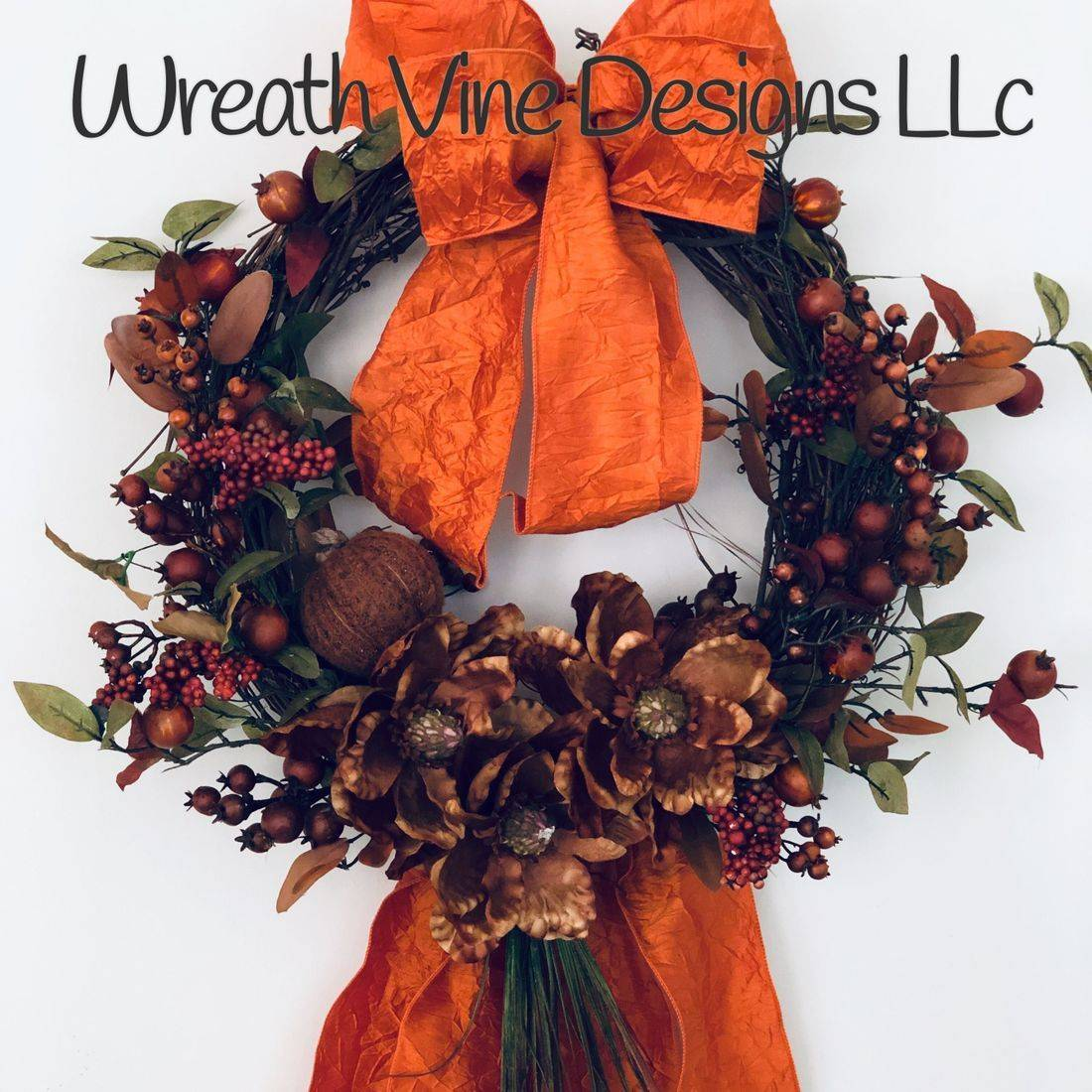 Blue Mesh Wreath