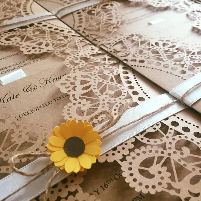 lasercut wedding invitation