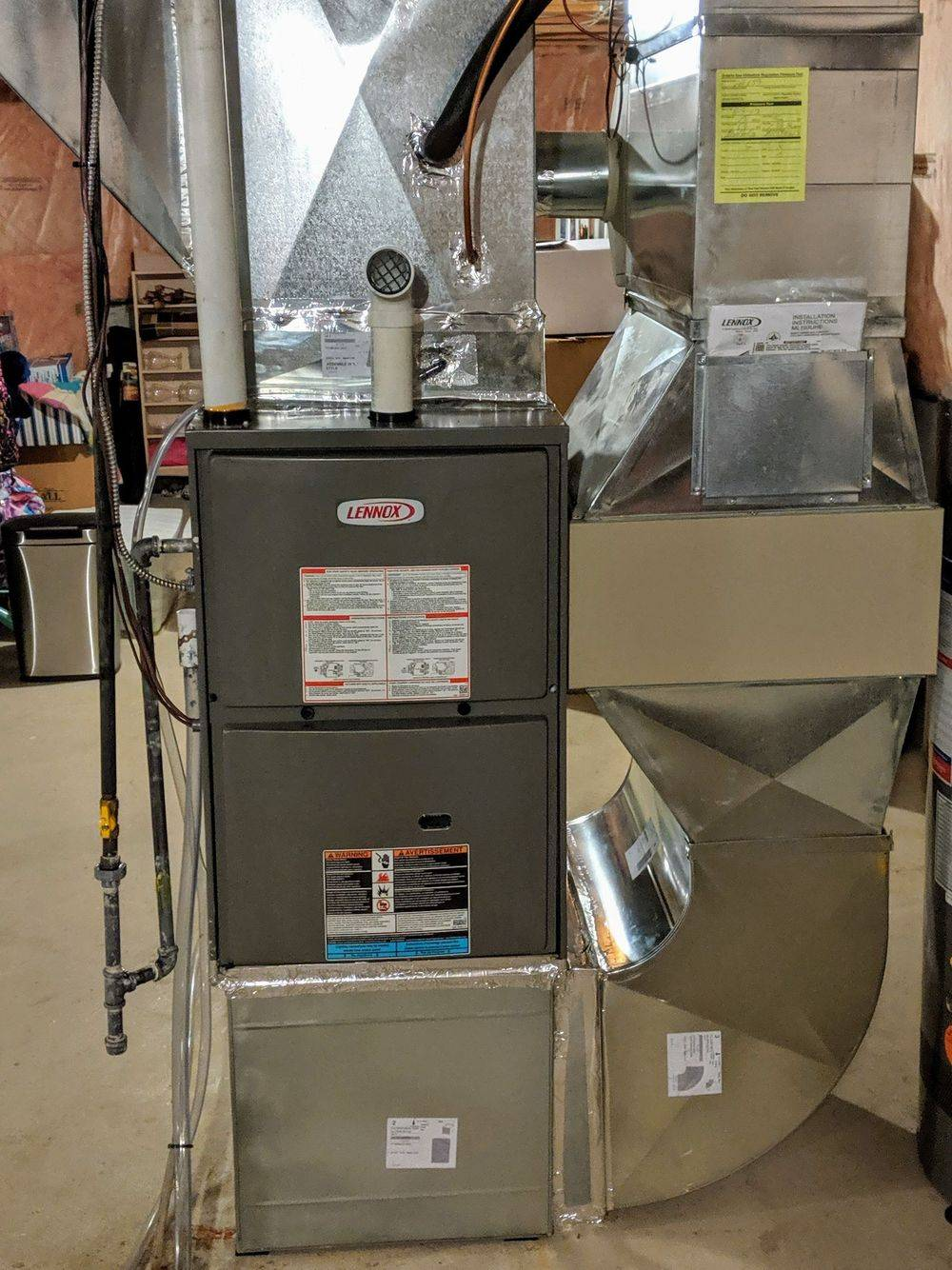 lennox furnace replace new toronto ductwork install