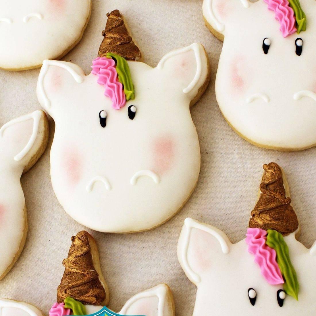 Unicorn face cookies Milwaukee