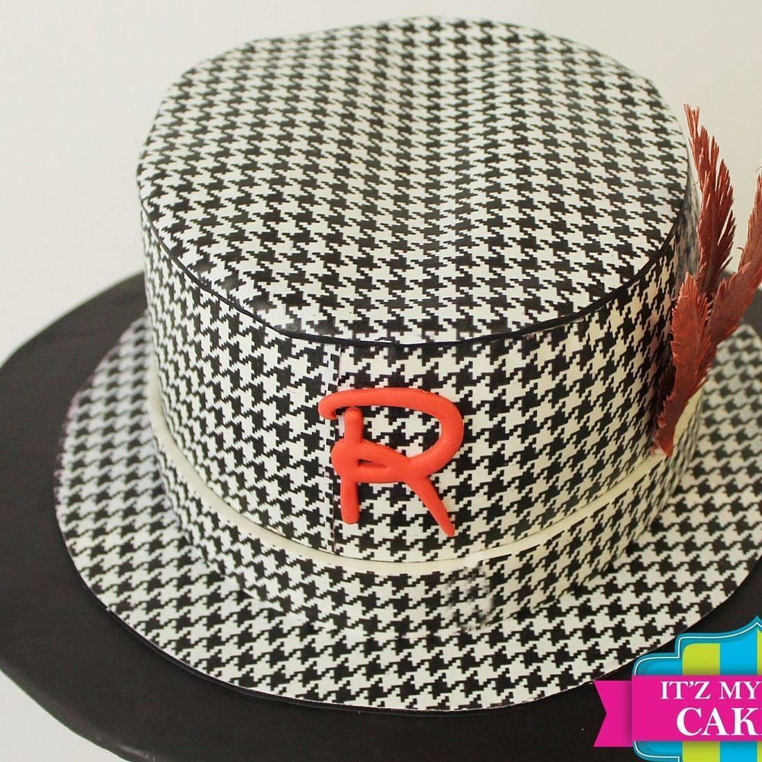 Fedora Hat Carved Dimensional Cake Milwaukee