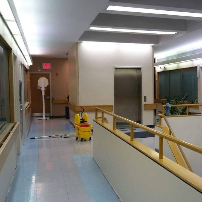 Office Hallway Construction Arcedo Construction