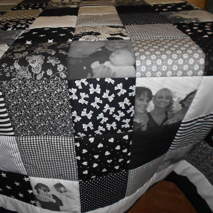 Black & White photo quilt