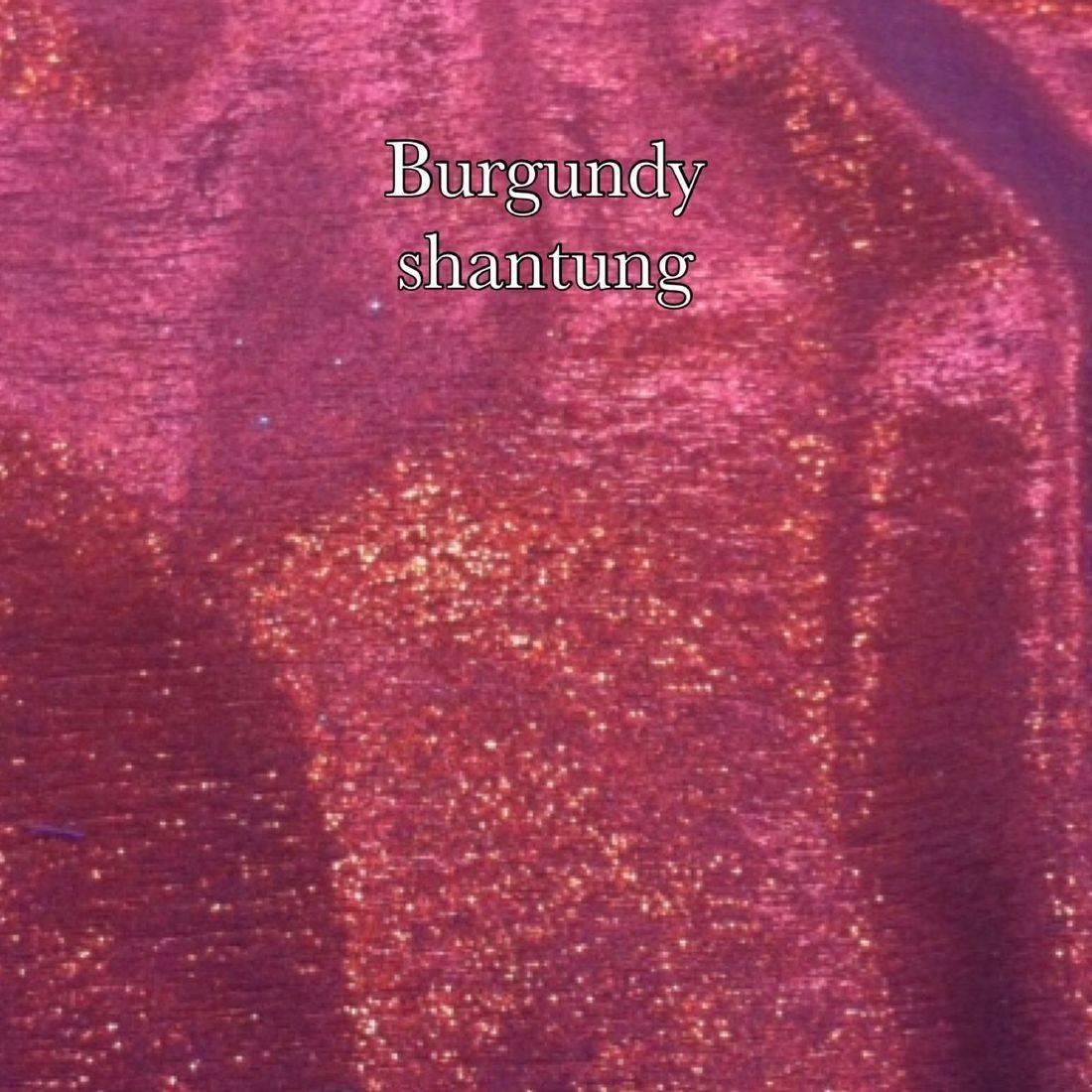 burgundy shantung