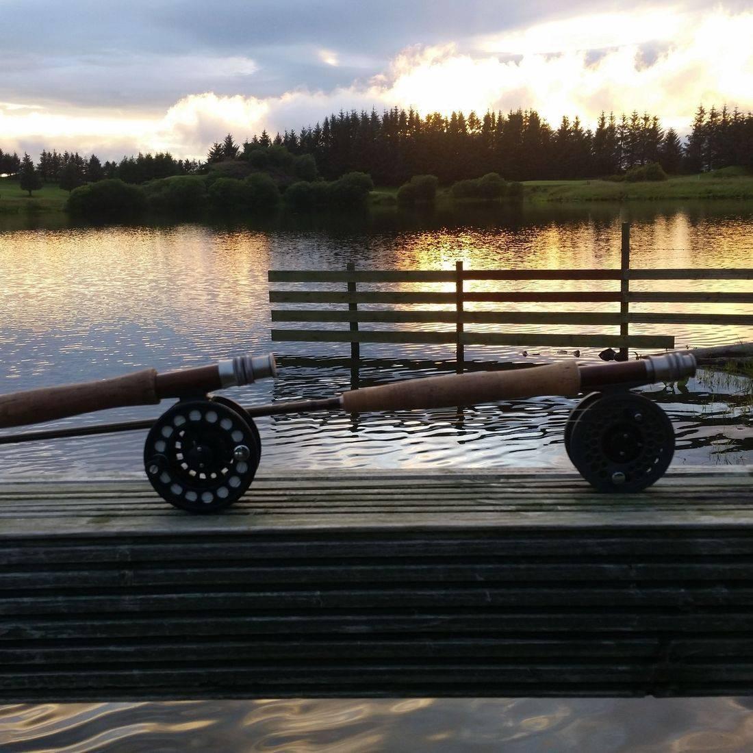 walton fly fishing rod reels loch