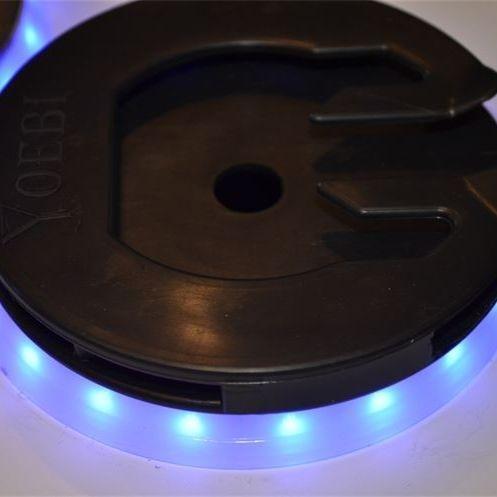 Blue LED Ring with Yoebi Wine Glass Holder