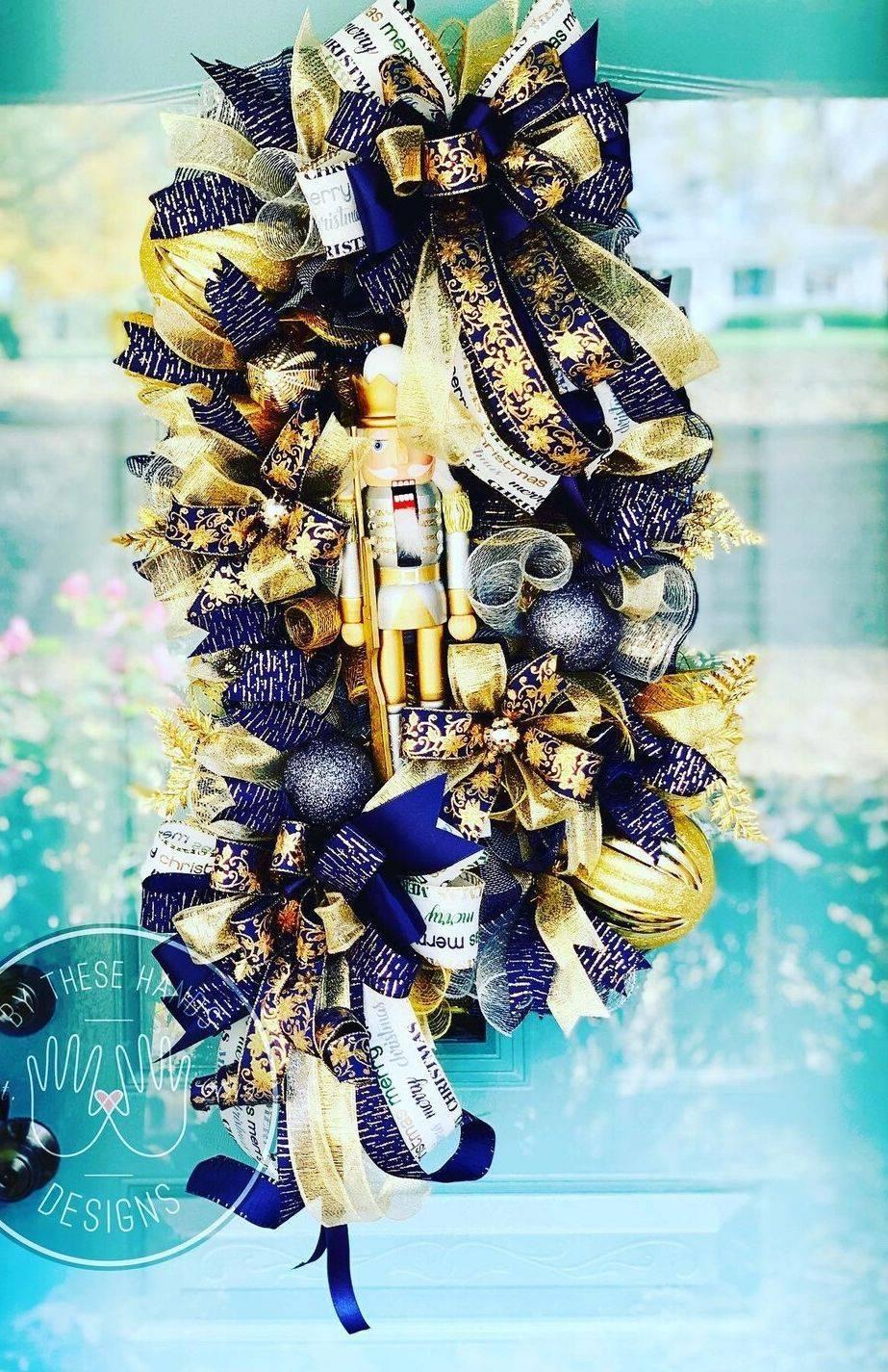 Nutcracker Christmas Wreath