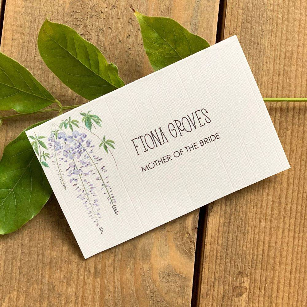 Wedding Place name , wisteria, lilac and white