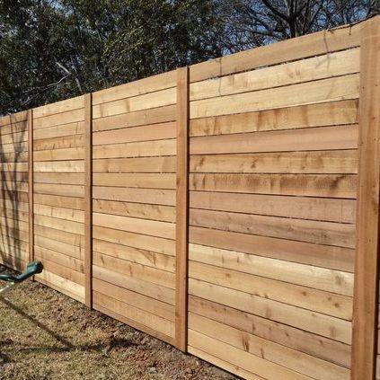 Modern Horizontal Plank Fence