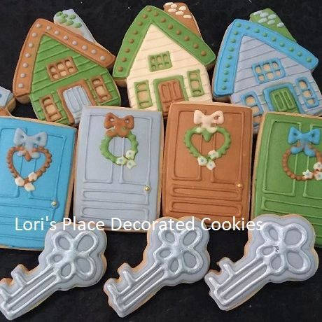 New Home Cookies - House Cookies - Door Cookies - Key Cookies